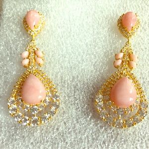 Cristina Sabatini Phoenix Pink Opal Earrings